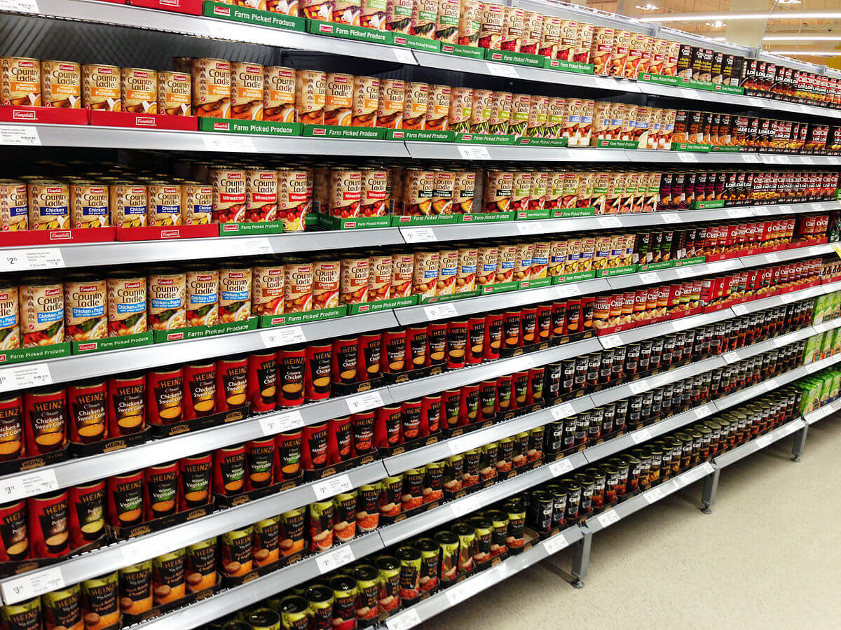 La corsia di un supermercato